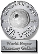 Chameleon's Eye Silver Award Dimensions: 135 x 186 Size: 11.7 KB Site is NOW closed