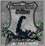 Skorpions Award in Silber Dimensions: 150 x 156 Size: 12.9 KB