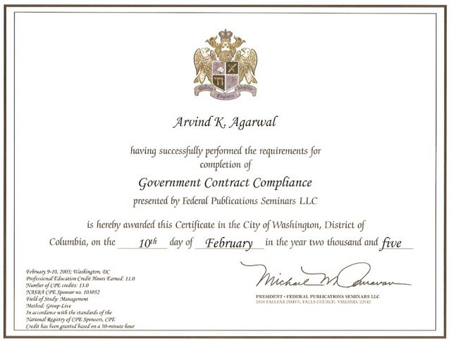 Government Contract Compliance