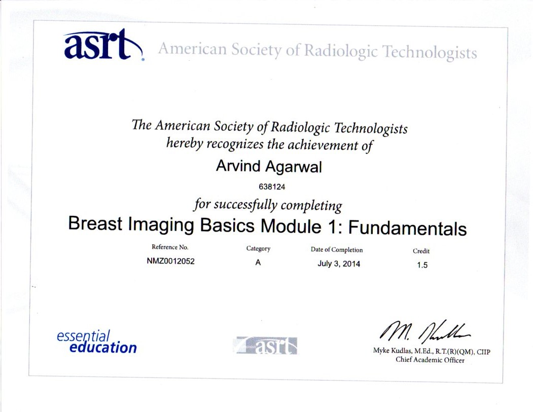 Breast Imaging Module 1