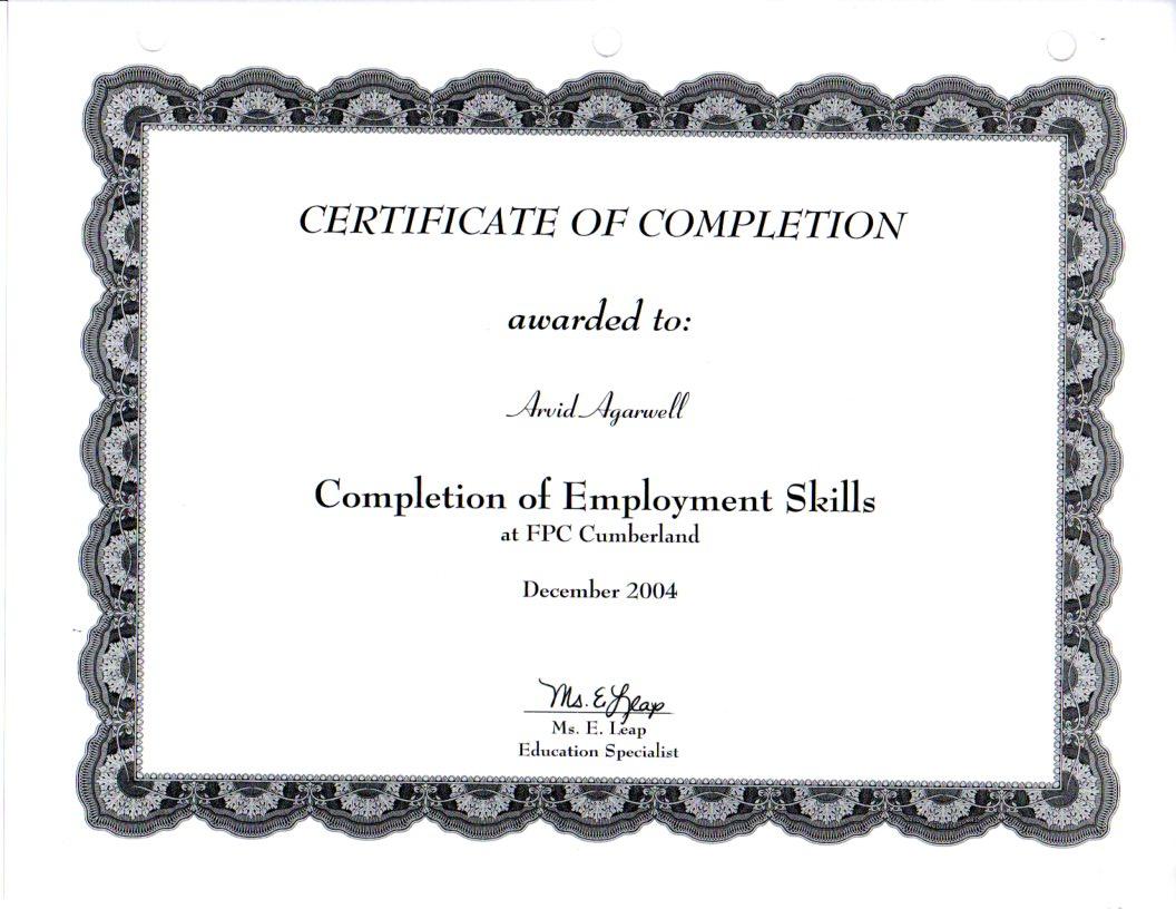 Emloyment Skills