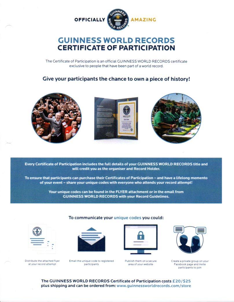 Certificate of Participiant