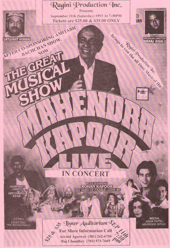 Mahender Kapoor Concert
