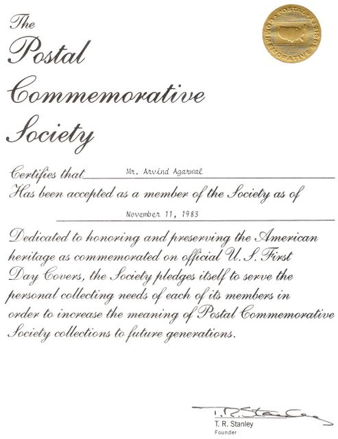 The Postal Commemorative Society (PCS)