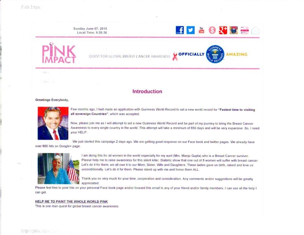 Pink Impact Website
