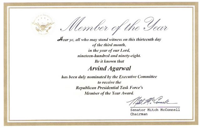 Member of the Year  - Presidential Task Force