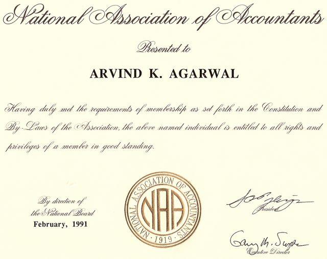 National Association of Accountants 1991