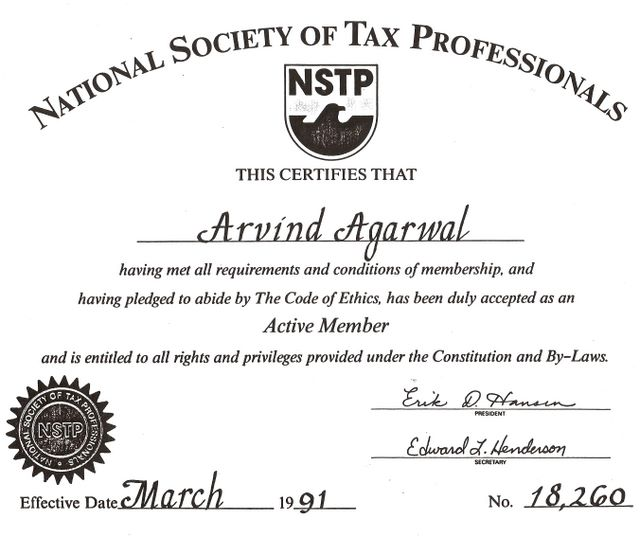 National Society of Tax Professionals 1991