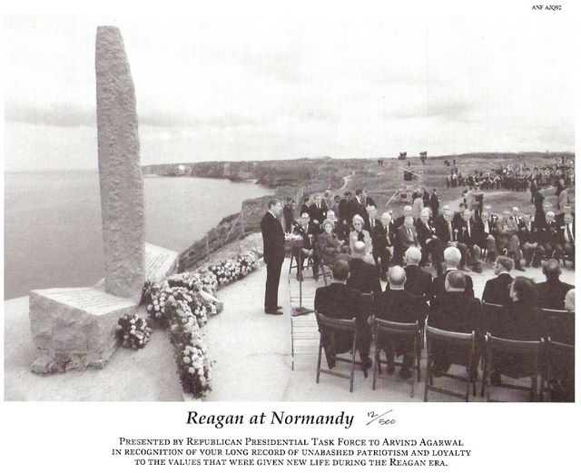 Picture of Reagan at Normandy