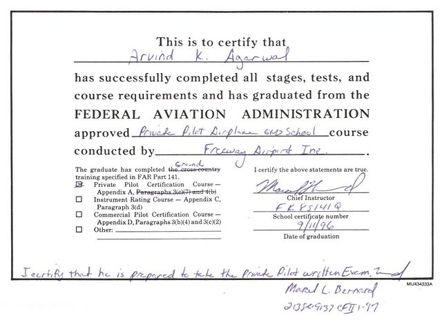 Recreational Pilot FAA