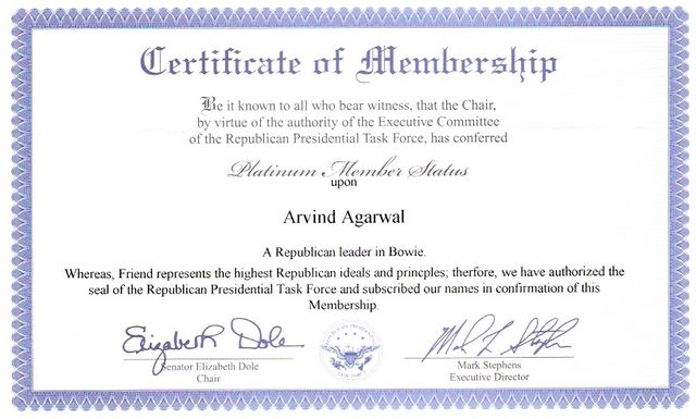 Presidential Task Force Platinum Membership