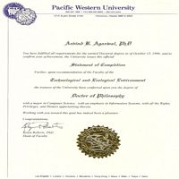 Ph.D Degree in Computer Science