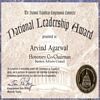 National Leadership Award - Honorary Co-Chairman