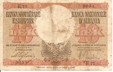 Banca Nazionale D'Albania  10 Leke  No Date Issue Dimensions: 200 X 100, Type: JPEG