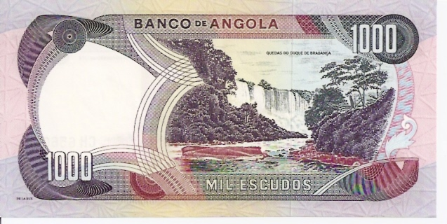 Banco DE Angola  1000 Escudos  Nov 1972 Issue Dimensions: 200 X 100, Type: JPEG