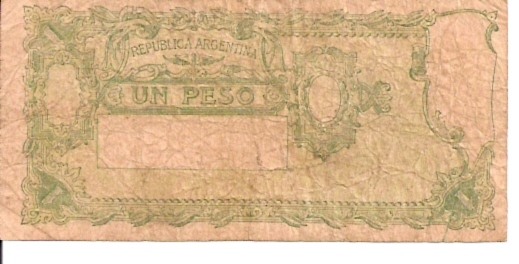 Banco Central  1 Peso  Date Issued: Mar-27-1947 Dimensions: 200 X 100, Type: JPEG