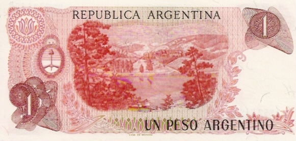 Banco Central  1 Peso  1970-1972 ND Issue Dimensions: 200 X 100, Type: JPEG