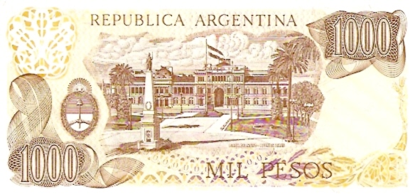 Banco Central  1000 Pesos  1970-1972 Issue Dimensions: 200 X 100, Type: JPEG