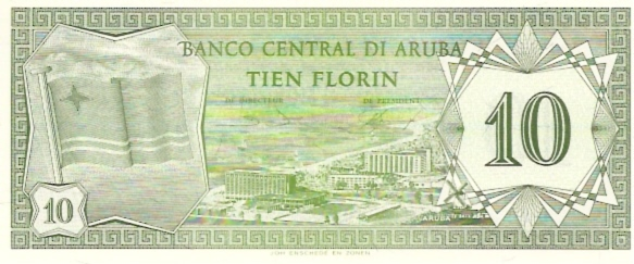 Banco Central DI Aruba  10 Florin  Jan 1986 Issue Dimensions: 200 X 100, Type: JPEG