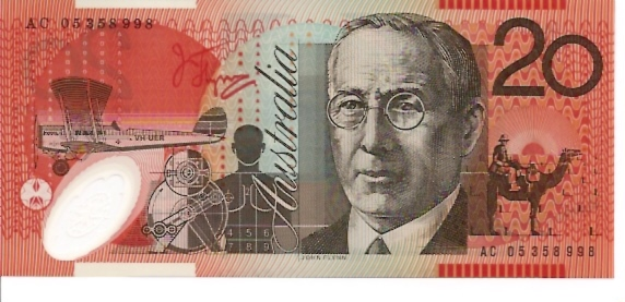 Reserve Bank  20 Dollars  1992-96 ND Issue  Printed on Polymer Plastic Dimensions: 200 X 100, Type: JPEG