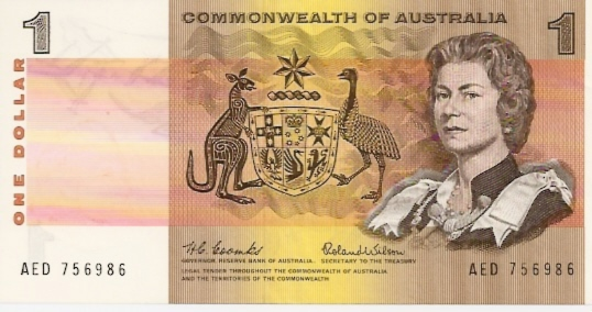 Reserve Bank  1 Dollar  1992-96 Issue  Printed on Polymer Plastic Dimensions: 200 X 100, Type: JPEG