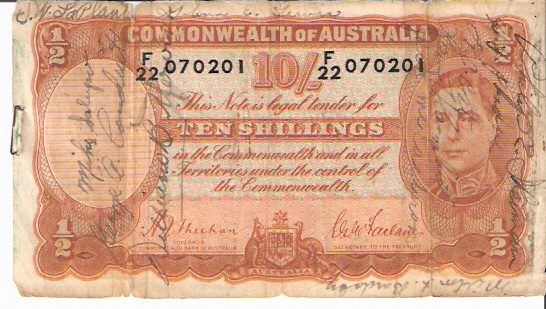 Reserve Bank  10 Schillings  1960-1961 ND issue Dimensions: 200 X 100, Type: JPEG