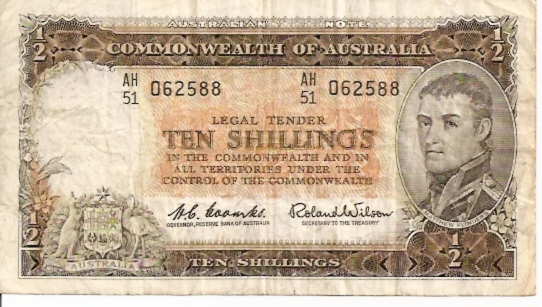 Commonwealth of Australia 10 Shillings ND Issue Dimensions: 200 x 100 Type: JPEG