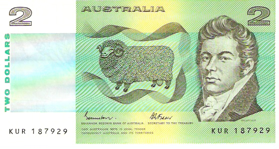 Reserve Bank  2 Dollars  1966-67 ND Issue  Not in Circulation anymore.  Printed on Polymer Plastic Dimensions: 200 X 100, Type: JPEG