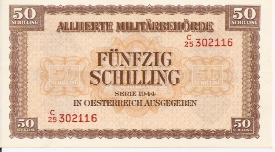 Alliierte Militarbehorde  50 Schilling  Series 1944 Issue Dimensions: 200 X 100, Type: JPEG