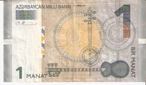 Azerbaycan Milli Banki  1 Manat  Year Issued: 2005 Dimensions: 200 X 100, Type: JPEG