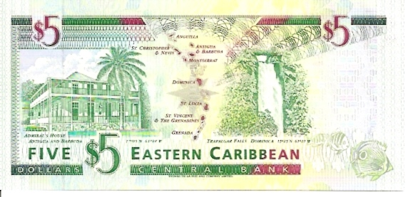 Issued by Central Bank  5 Dollars  No Issue Date  U - At the end of serial number means - Anguilla Dimensions: 200 X 100, Type: JPEG