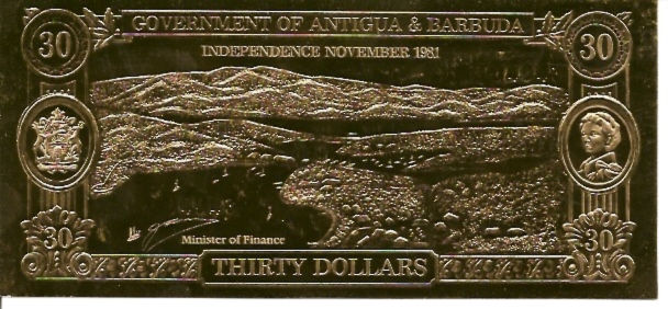 Govt of Antigua & Barbuda  30 Dollars  No Issue Date  Not in Circulation Dimensions: 200 X 100, Type: JPEG