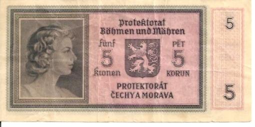Bohemia and Moravia   5 Korun  1959 Series Dimensions: 200 X 100, Type: JPEG