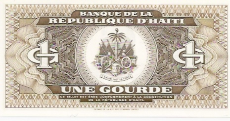 Banque DE LA Republique D'Haiti  1 Gourde  1993 Issue Dimensions: 200 X 100, Type: JPEG