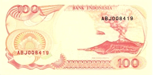 Republik Indonesia  100 Rupiah   1985 ND Issue Dimensions: 200 X 100, Type: JPEG