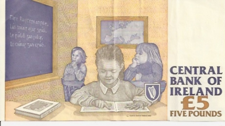 Central Bank of Ireland  5 Pound  1992-1995 Issue Dimensions: 200 X 100, Type: JPEG