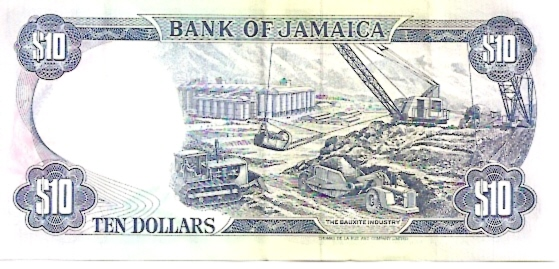 Bank of Jamica  10 Dollar  1970 ND Issue Dimensions: 200 X 100, Type: JPEG