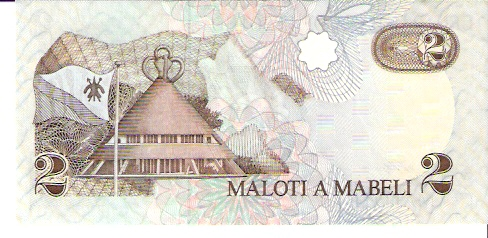 Lesotho Monetary Authority  2 Maloti  1989 Issue Dimensions: 200 X 100, Type: JPEG