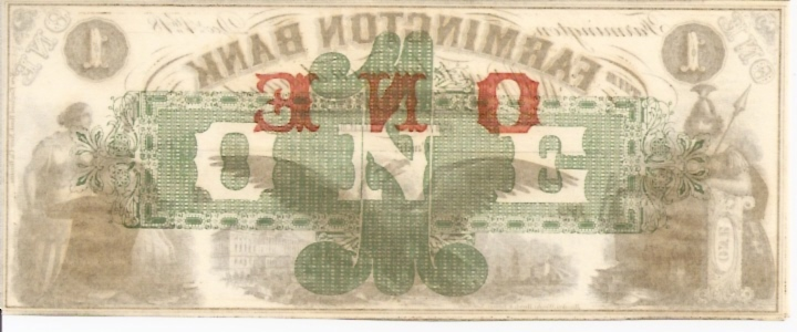 Farmington Bank   1 Dollars  1853 Issue  Not in circulation anymore  AKA - Broken Notes Dimensions: 200 X 100, Type: JPEG