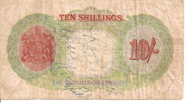 The Bahamas Government  10 Schillings  1936 Issue Dimensions: 200 X 100, Type: JPEG