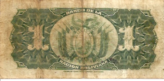 Banco Central De Bolivia  1 Boliviano  1911 Issue Dimensions: 200 X 100, Type: JPEG