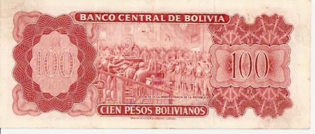 Banco Central De Bolivia  100 Boliviano  1945 Issue Dimensions: 200 X 100, Type: JPEG