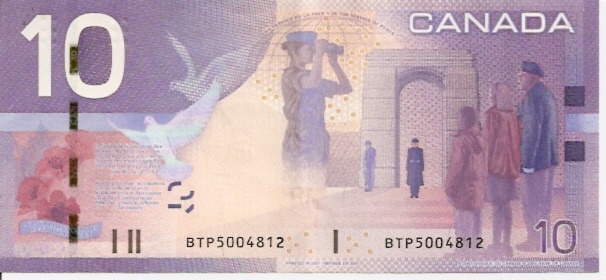 Bank of Canda  10 Dollars  1996 ND Issue Dimensions: 200 X 100, Type: JPEG