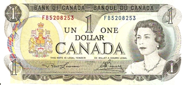 Banque DU Canada  1 Dollar  1973 Issue Dimensions: 200 X 100, Type: JPEG