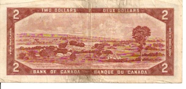 Banque DU Canada  2 Dollar  1954 Issue Dimensions: 200 X 100, Type: JPEG