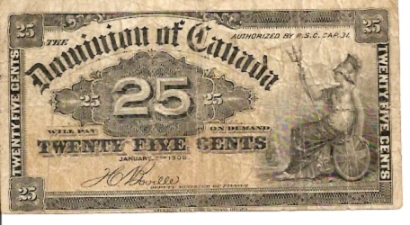 Dominion Of Canada  25 Cents  Jan 1900 Issue Dimensions: 200 X 100, Type: JPEG