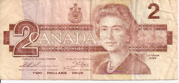 Bank of Canada  2 Dollars  1986 Issue Dimensions: 200 X 100, Type: JPEG