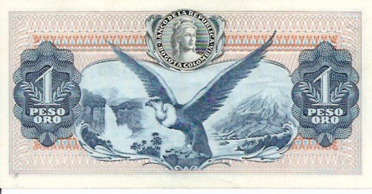 Banco De La Republica  1 Peso  1961-1964 Issue Dimensions: 200 X 100, Type: JPEG