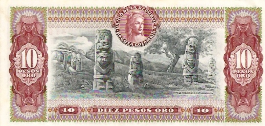 Banco De La Republica  10 Peso  1961-1964 Issue Dimensions: 200 X 100, Type: JPEG
