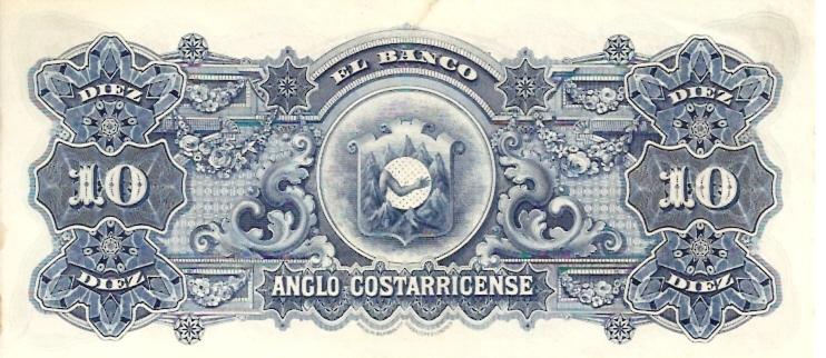 Banco Central De Costa Rica  10 Colones  1963-1970 Issue Dimensions: 200 X 100, Type: JPEG